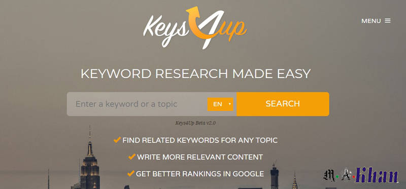 Content and Keyword Analysis Tools-keys4up