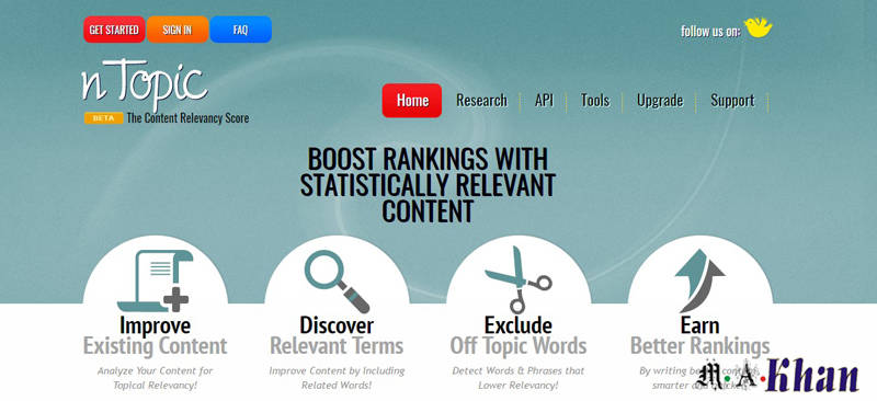 Content and Keyword Analysis Tools-ntopic