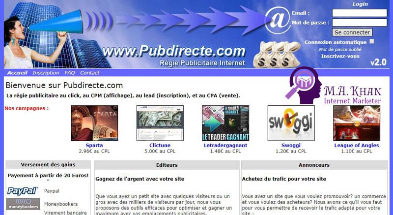 Affiliate Marketing Websites-Pubdirecte